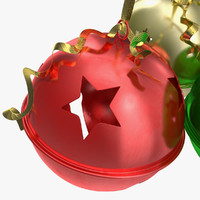 3d model photorealistic jingle bells