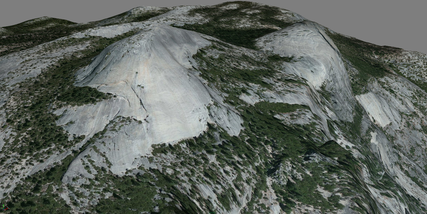 mesh yosemite north dome 3d model