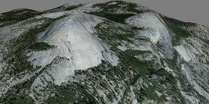 mesh yosemite north dome 3d model