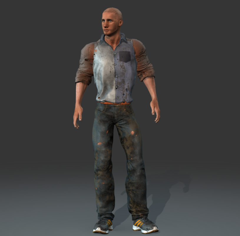 3d muscle vector man character model