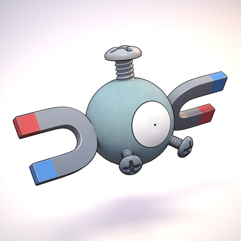 3d model magnemite pokemon