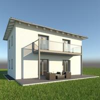 modern single family home x