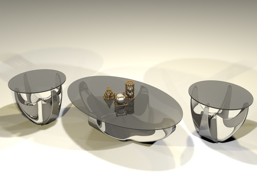modern coffee end tables c4d