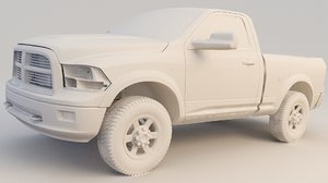 3D pickup ram 1500 model