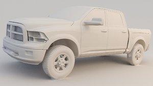 3D model pickup ram 1500