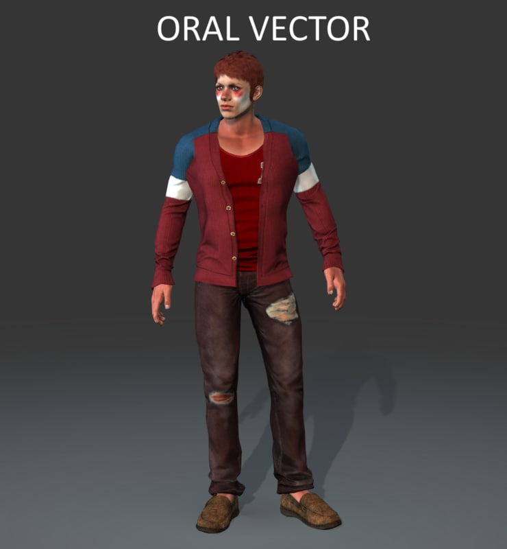 3d model character oral vector