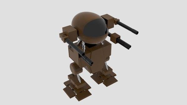 3d model mech capsule