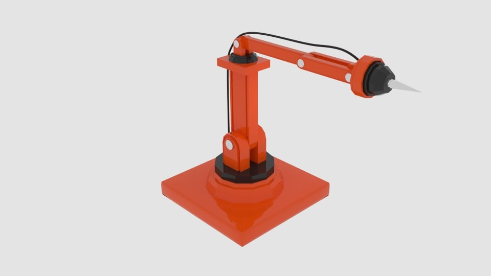 3d model needle robot arm