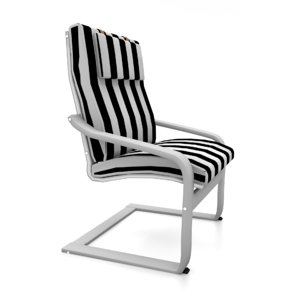 ikea poang chair 3d 3ds