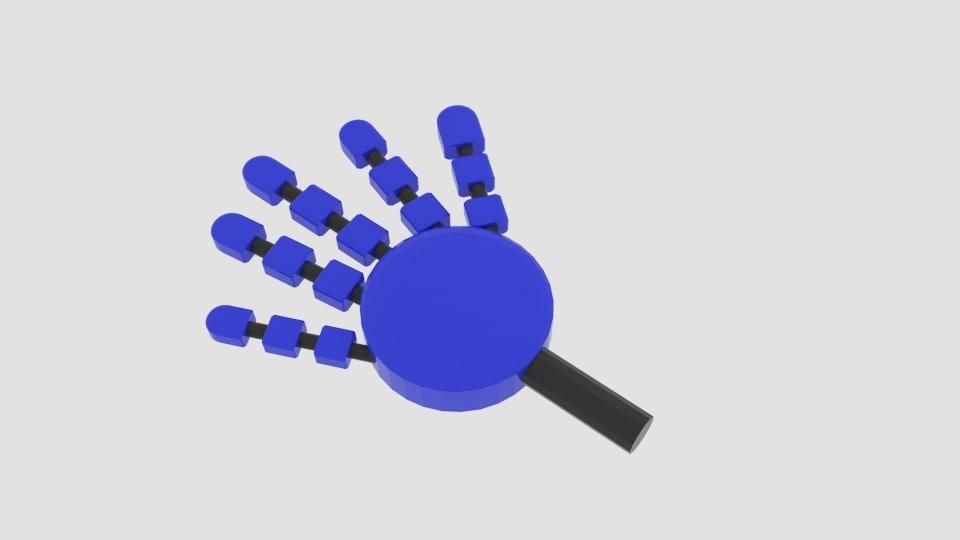 3d model robot arm