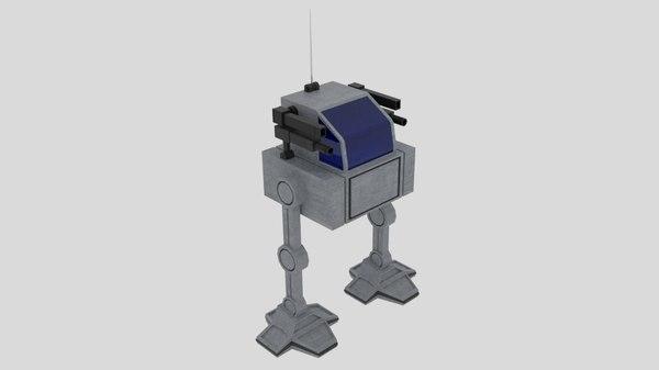 3d squaremech square mech model