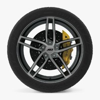 3d genua dark disk car wheel