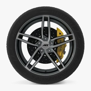 3d genua dark disk car wheel