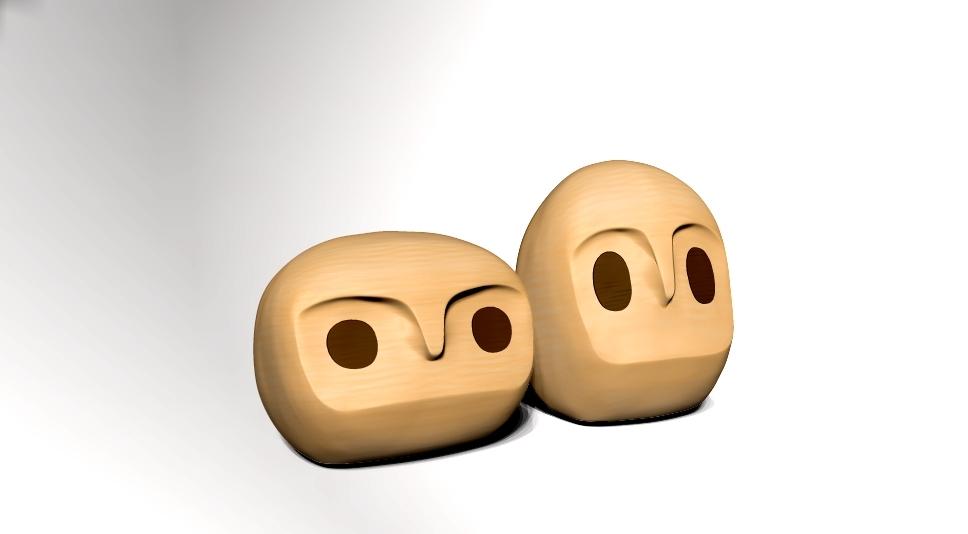 owly owl 3dp animation 3d obj