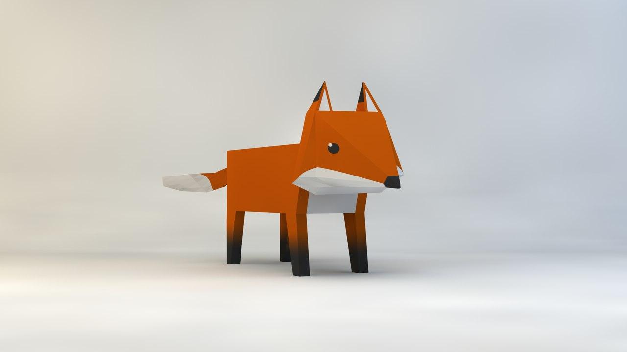 fox 3d c4d