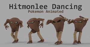 c4d dancing hitmonlee pokemon