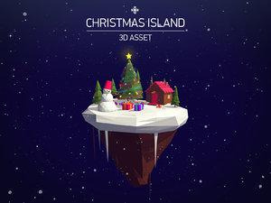 3d christmas asset