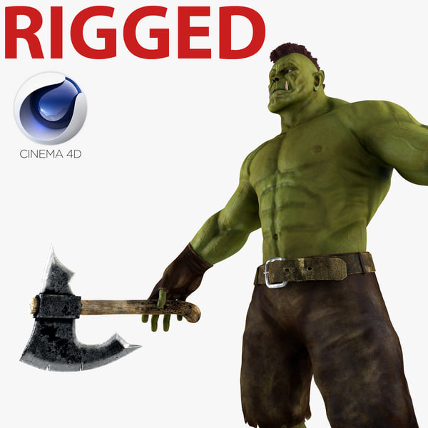 orc rigged c4d