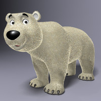 Cartoon Polar Bear Rigged