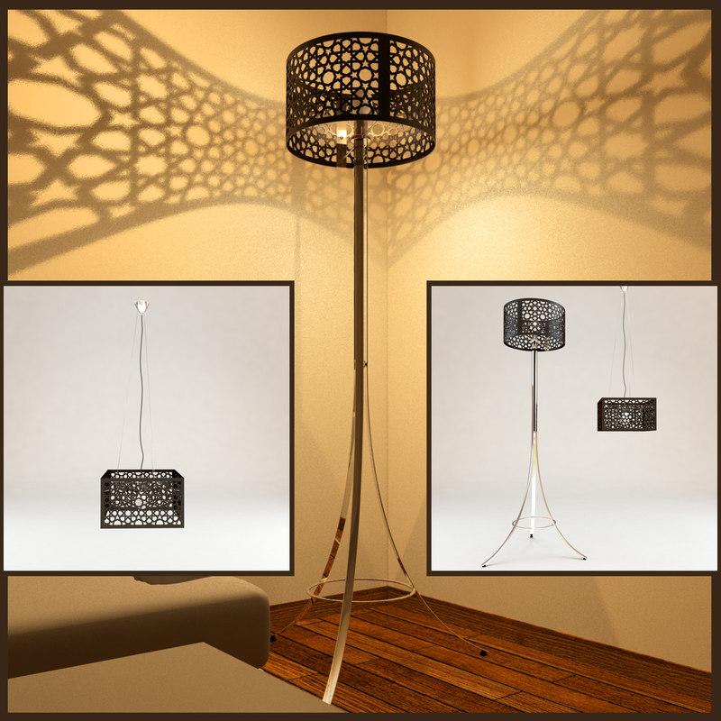3d 3ds moorish lampe
