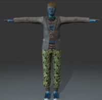 3d vector man character model