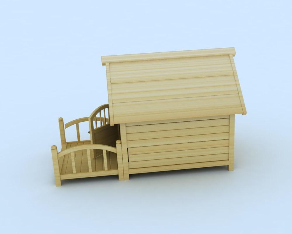 3d doghouse dog house