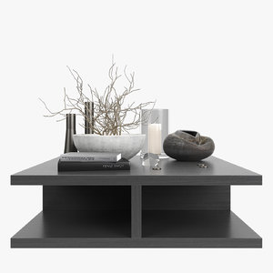 3d decorative set coffee-table