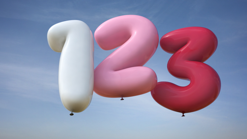 balloons numbers 3d 3ds