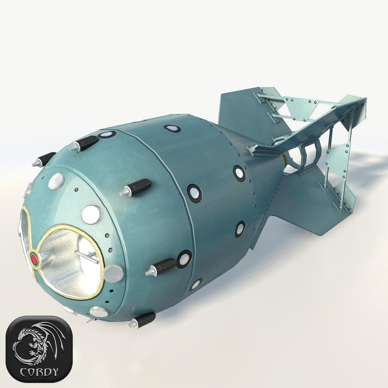 nuclear bomb rds-1 3d max