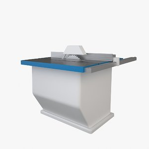 3ds simple table saw machine