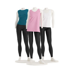 3d store mannequins shirts