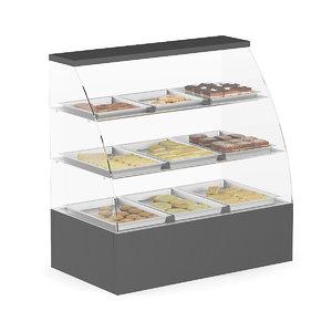 glass market shelf cakes max