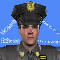 3d police animation