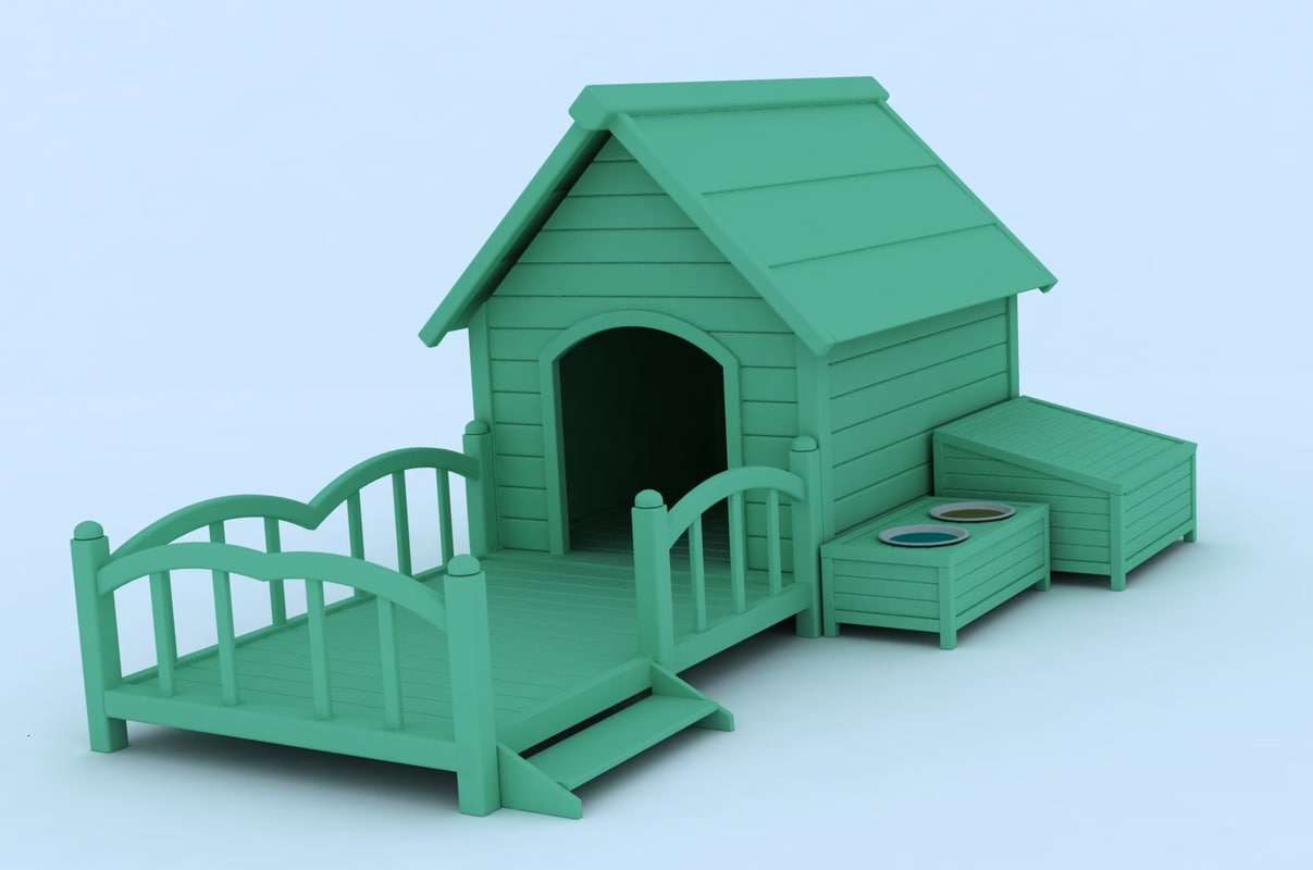 doghouse autocad render 3d max