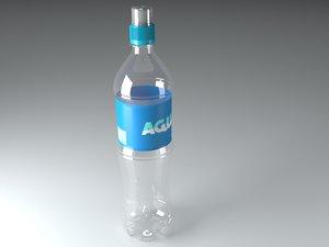3d model 500ml generic sport cap bottle