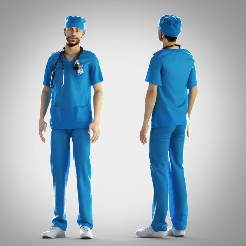 3d model surgeon outfit
