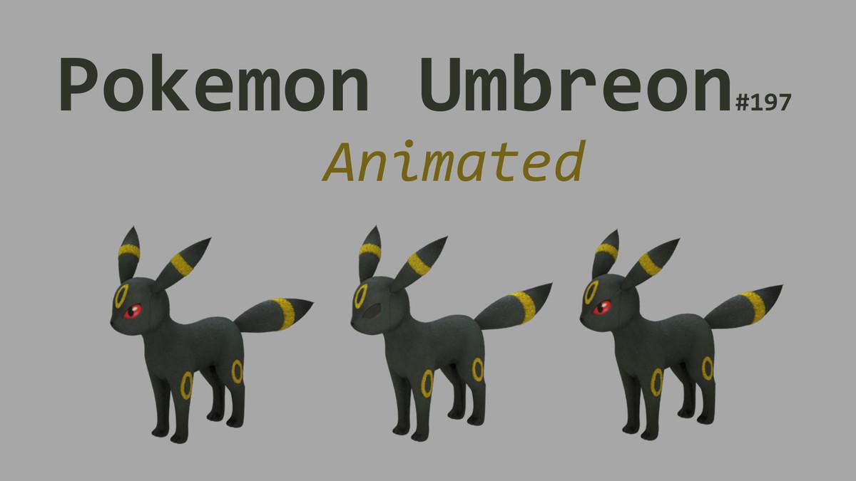 3d umbreon pokemon model