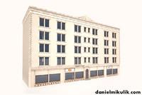 building exterior modeled 3d max
