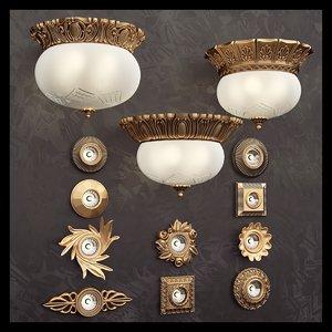 3d model possoni lamps