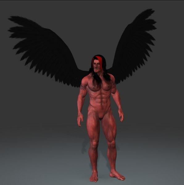 3d model of demon god