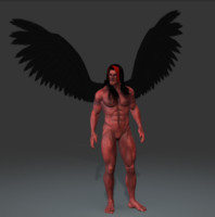3d model of demon god
