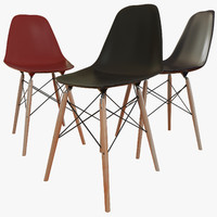 eames seat chair 3d model