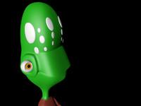 free c4d model alien human body