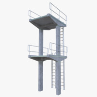 diving tower 3d obj