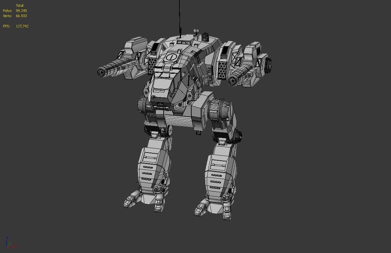 mechwarrior catapult 3d model