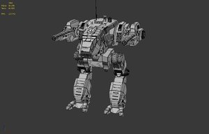 mechwarrior catapult 3d model