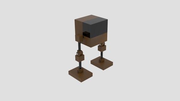 free cubemechh cube mech 3d model