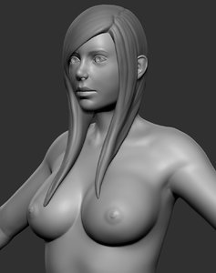 female curvy base 3d model