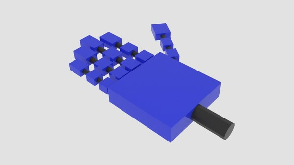 free square robot arm 3d model