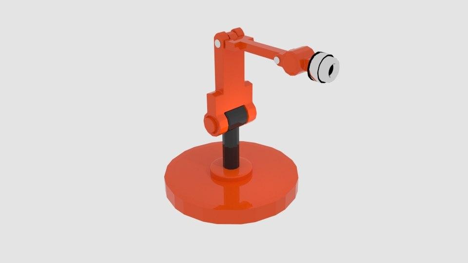 free 3ds mode robotarm cylinder